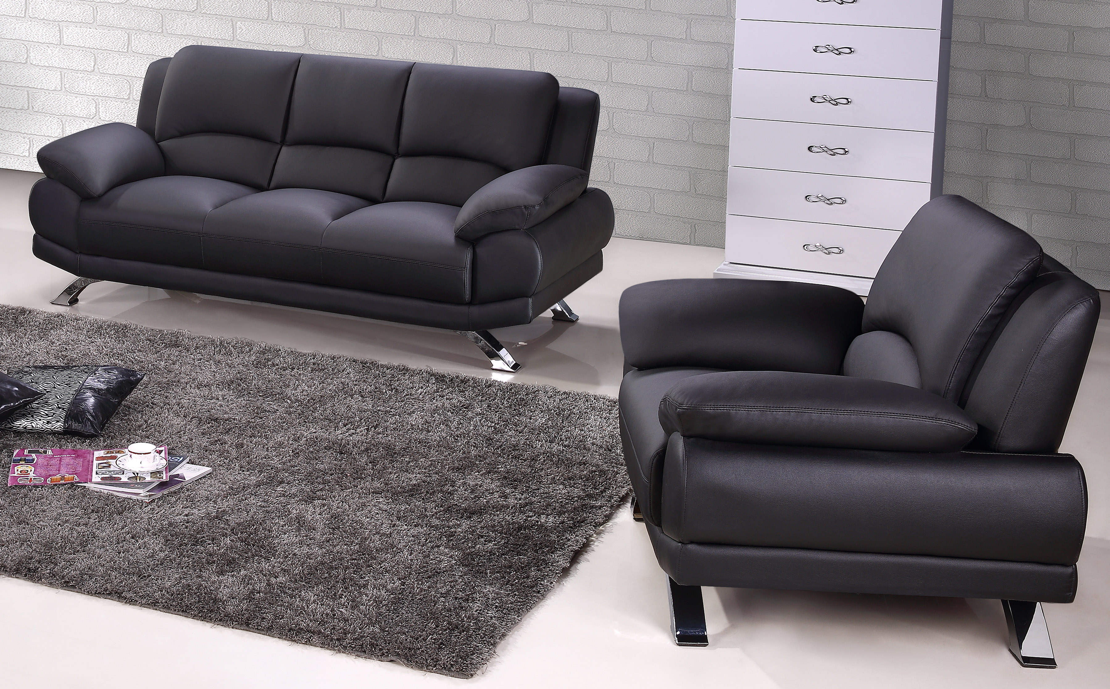 New tufted leather sofa set marmsweb marmsweb for Tufted couch set