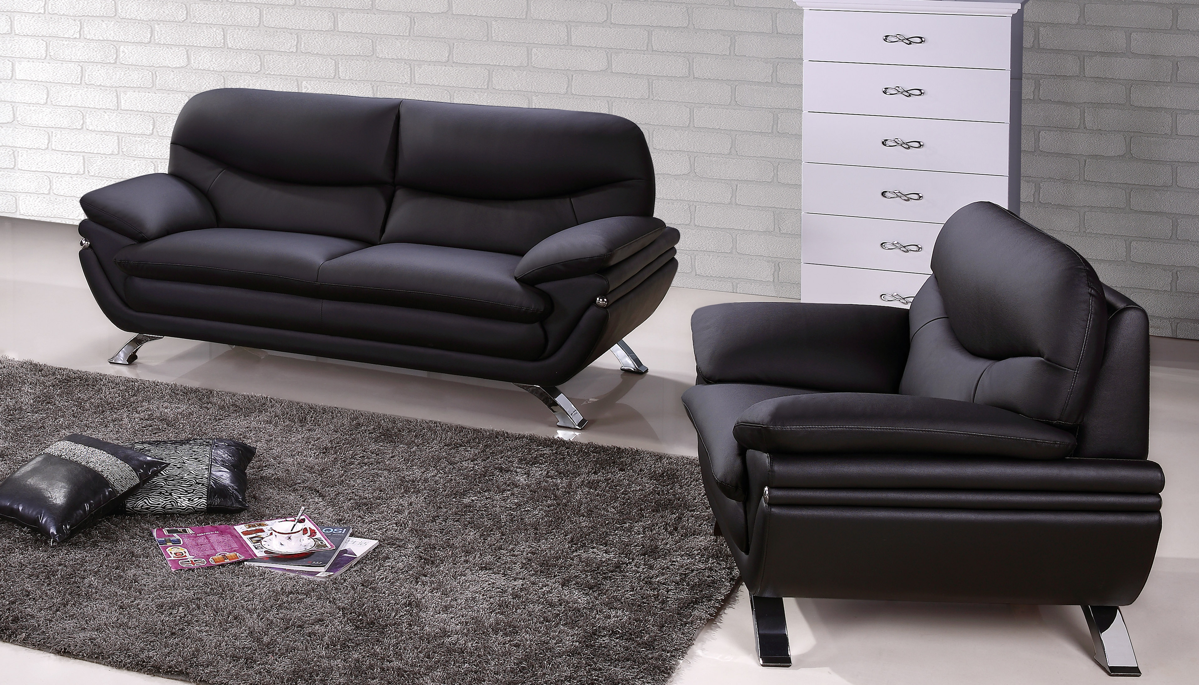 Miraculous Harmony Ying Yang Contemporary Leather Living Room Sofa Set Ncnpc Chair Design For Home Ncnpcorg