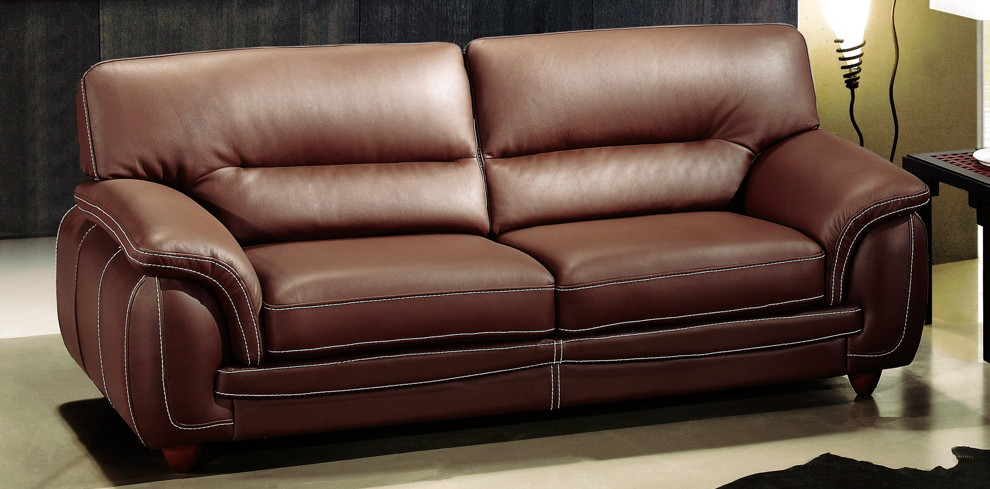 Chocolate Brown Micro-Suede Living Room Set from Monarch ...