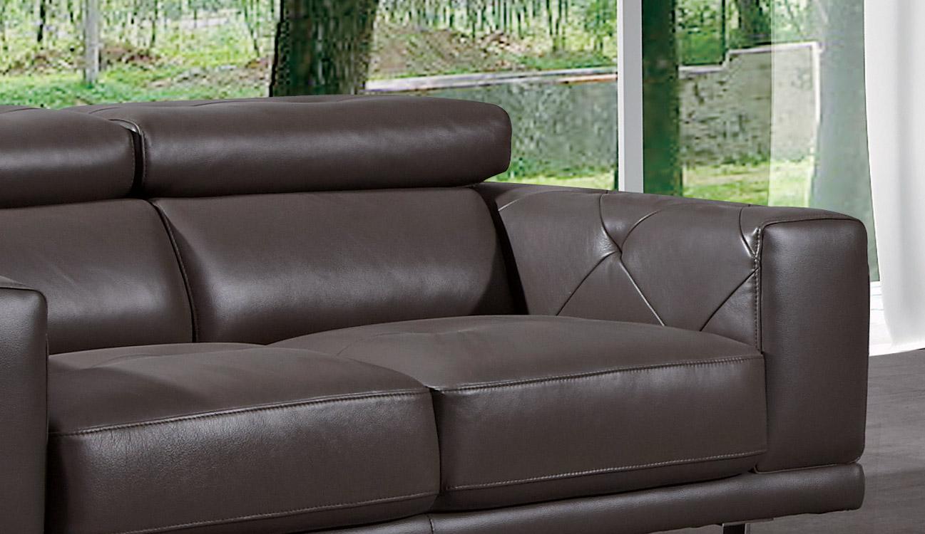 Functional three piece premium leather designer set palm for Gray leather sofa set
