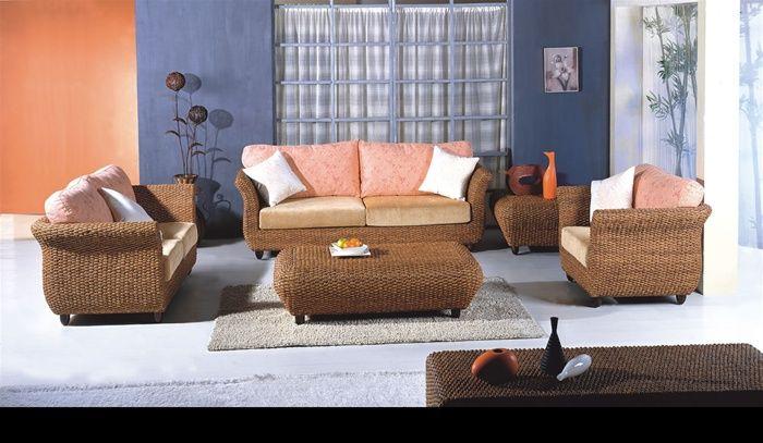 Hand woven rattan living room sofa set el paso texas 3119uohe for Sectional sofas el paso texas