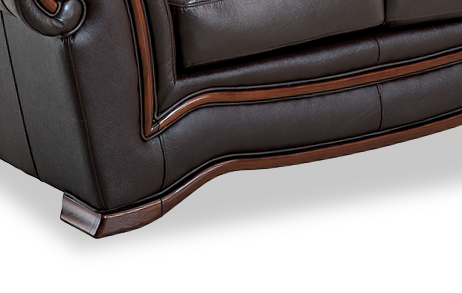 Traditional Brown Italian Leather Living Room Set - Click Image to Close