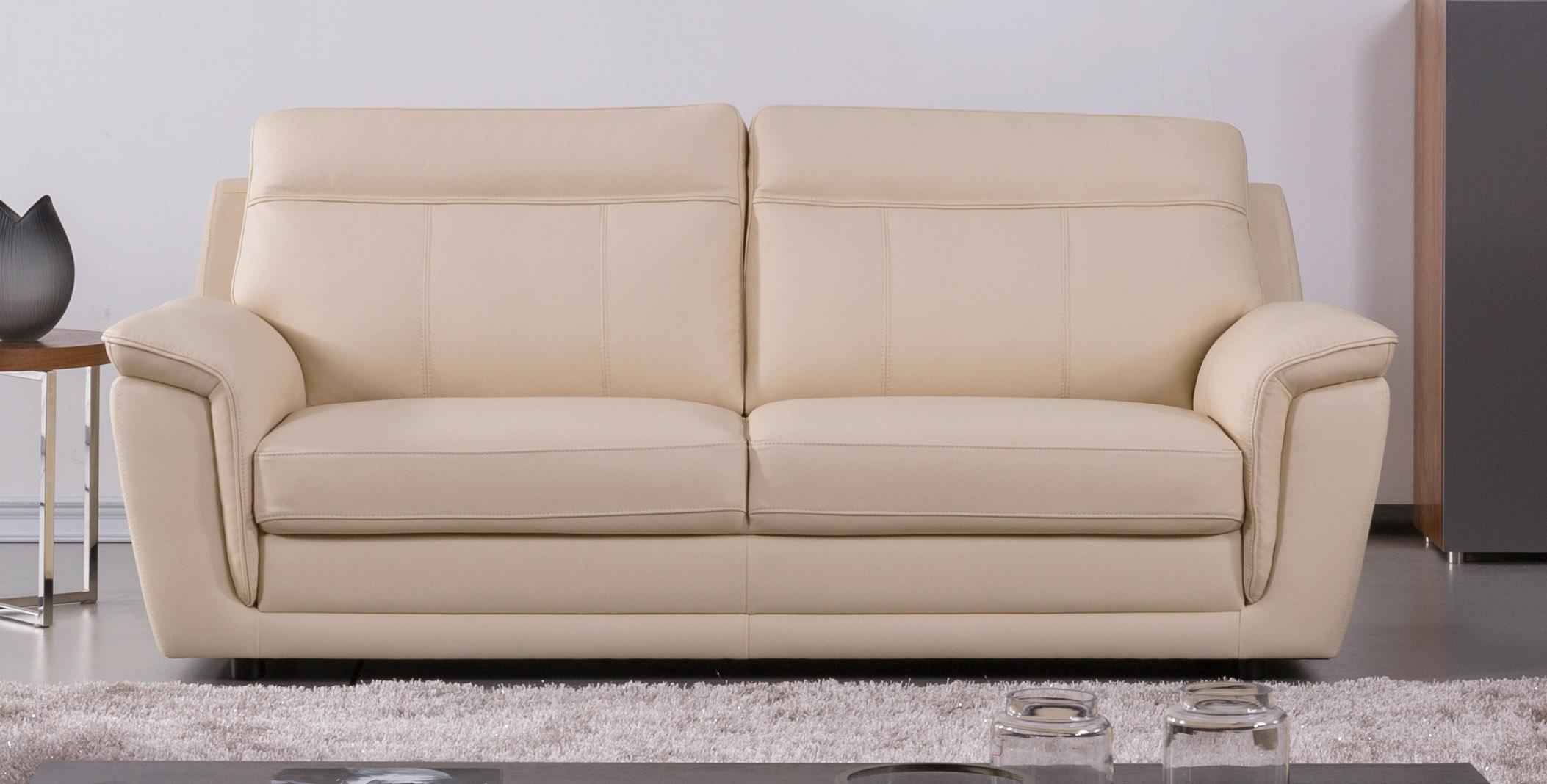 Genuine Italian Leather Beige Three Piece Sofa Set Philadelphia ...