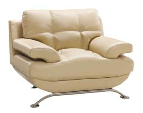 Three-Piece Living Room Set in Durable Leather Upholstery