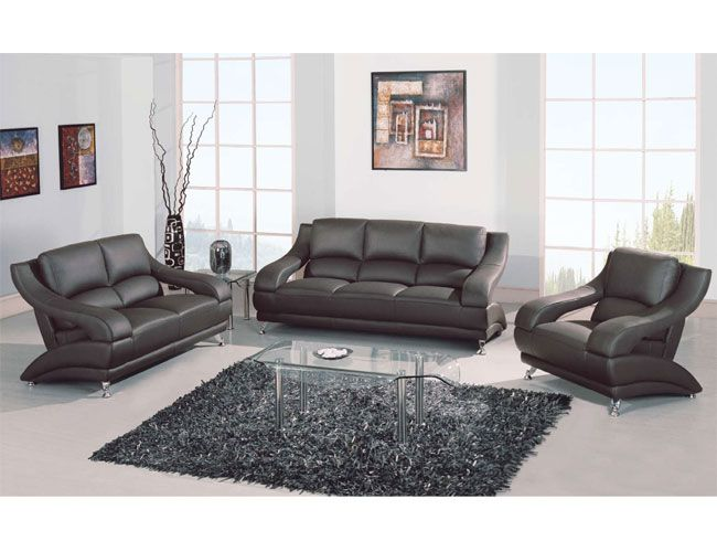Versatile Shaped Leather Upholstered Living Room Set San Francisco California Gf982
