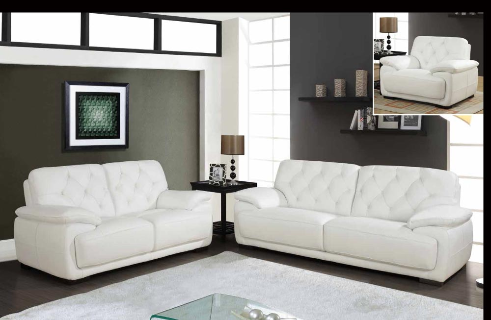 White Leather Sofas and Loveseats 1000 x 653