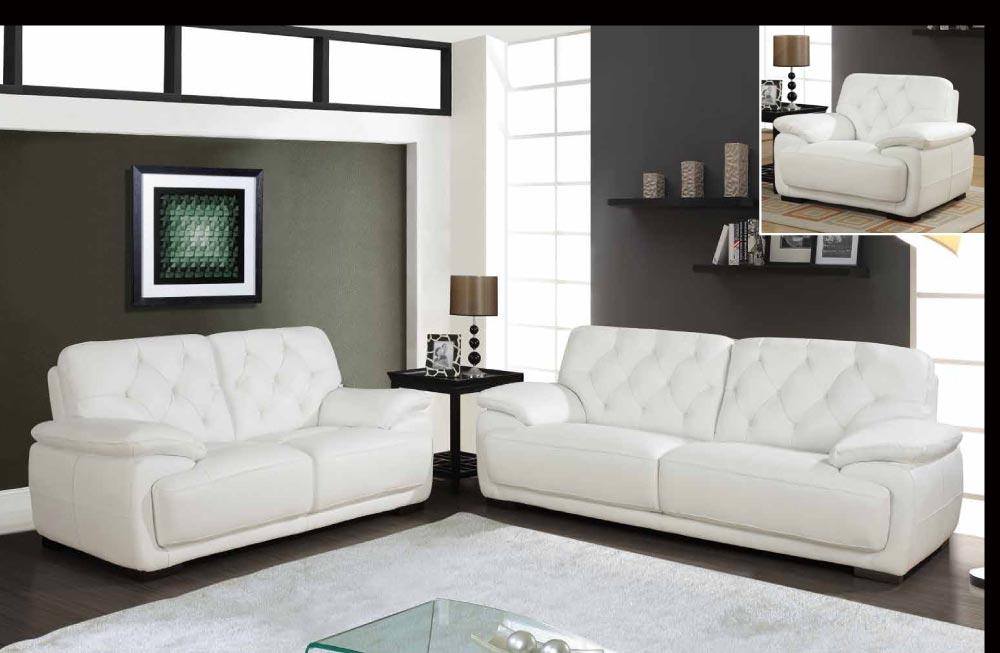 3 Piece White Leather Sofa Set Modern White Leather Sofa Set Thesofa
