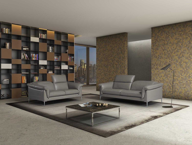 Stern Premium Quality Leather 2pc Sofa Set