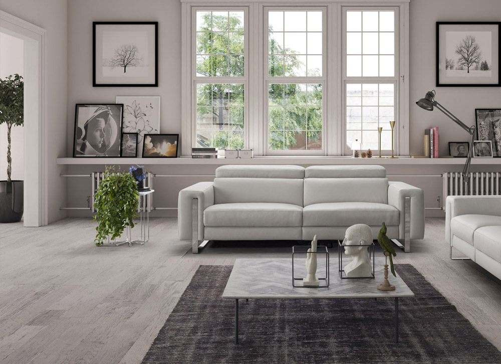Genuine Leather Living Room Sofas - Tampa FL WhiteLine-Adriano