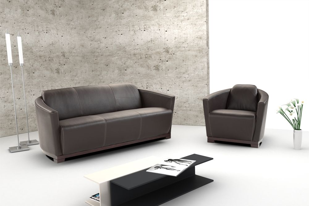 Hotel contemporary italian leather sofa set cincinnati for Contemporary sofa set