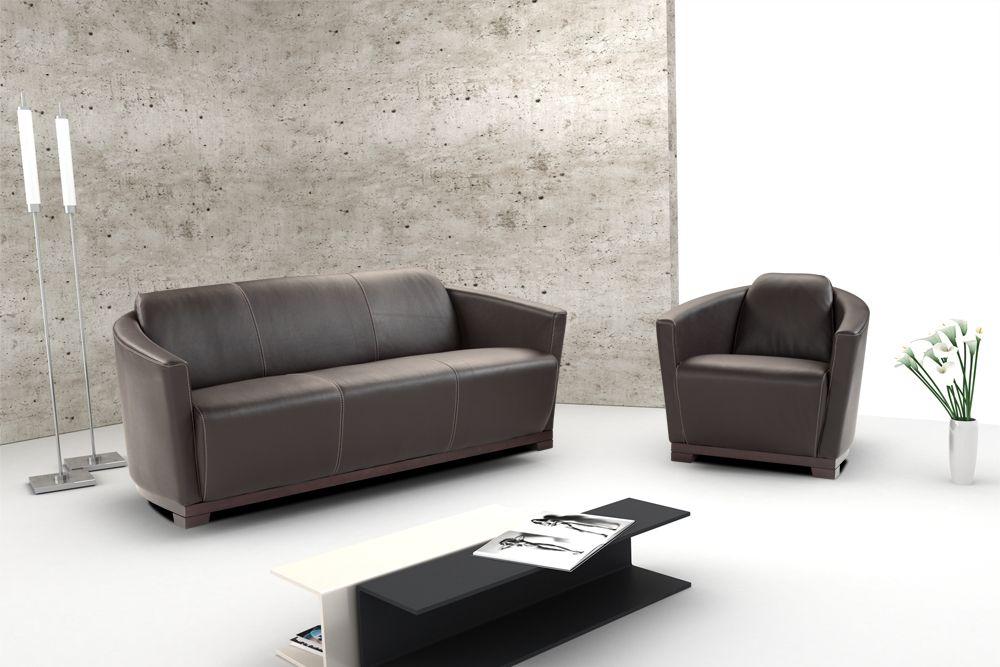 Hotel Contemporary Italian Leather Sofa Set Cincinnati Ohio J&M-HOTEL