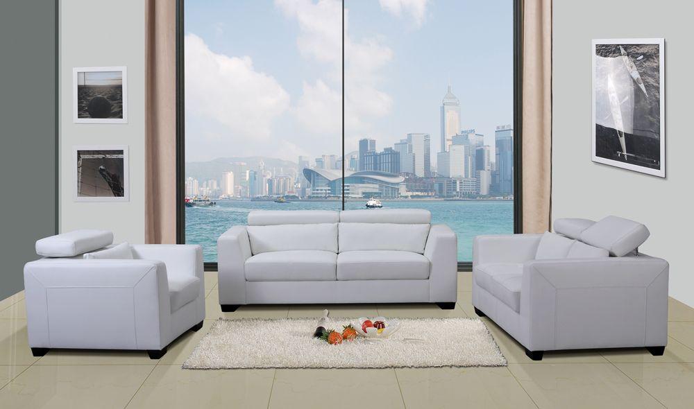 shanghai white bonded leather living room set toledo ohio