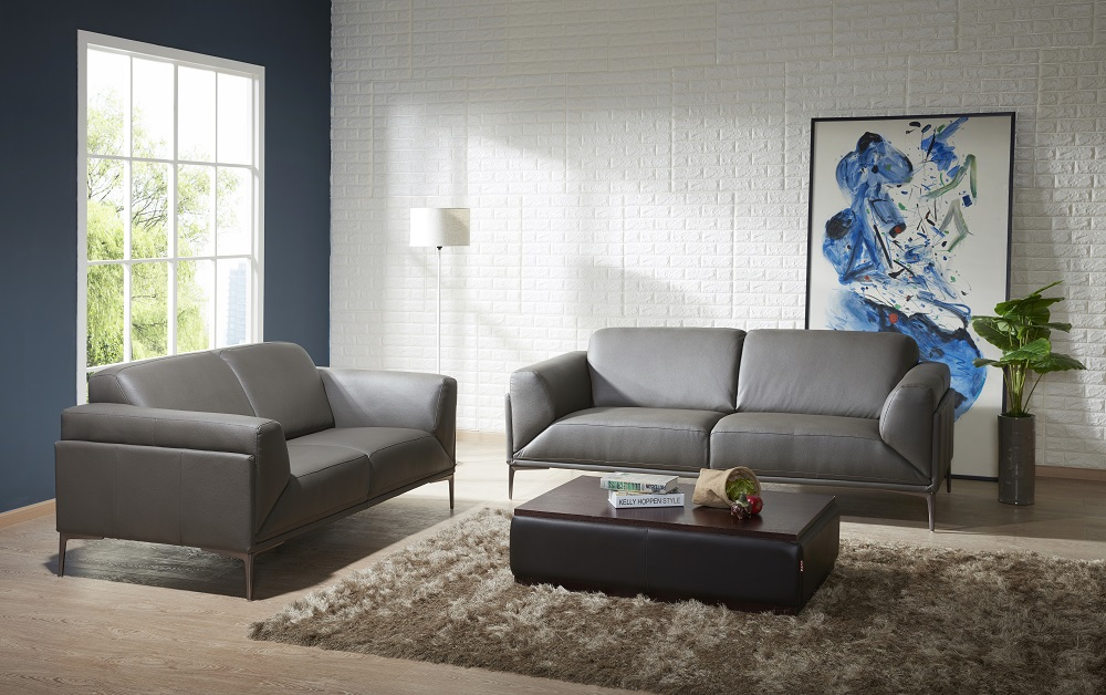 High Quality Leather Three Piece Sofa Set Chicago Illinois