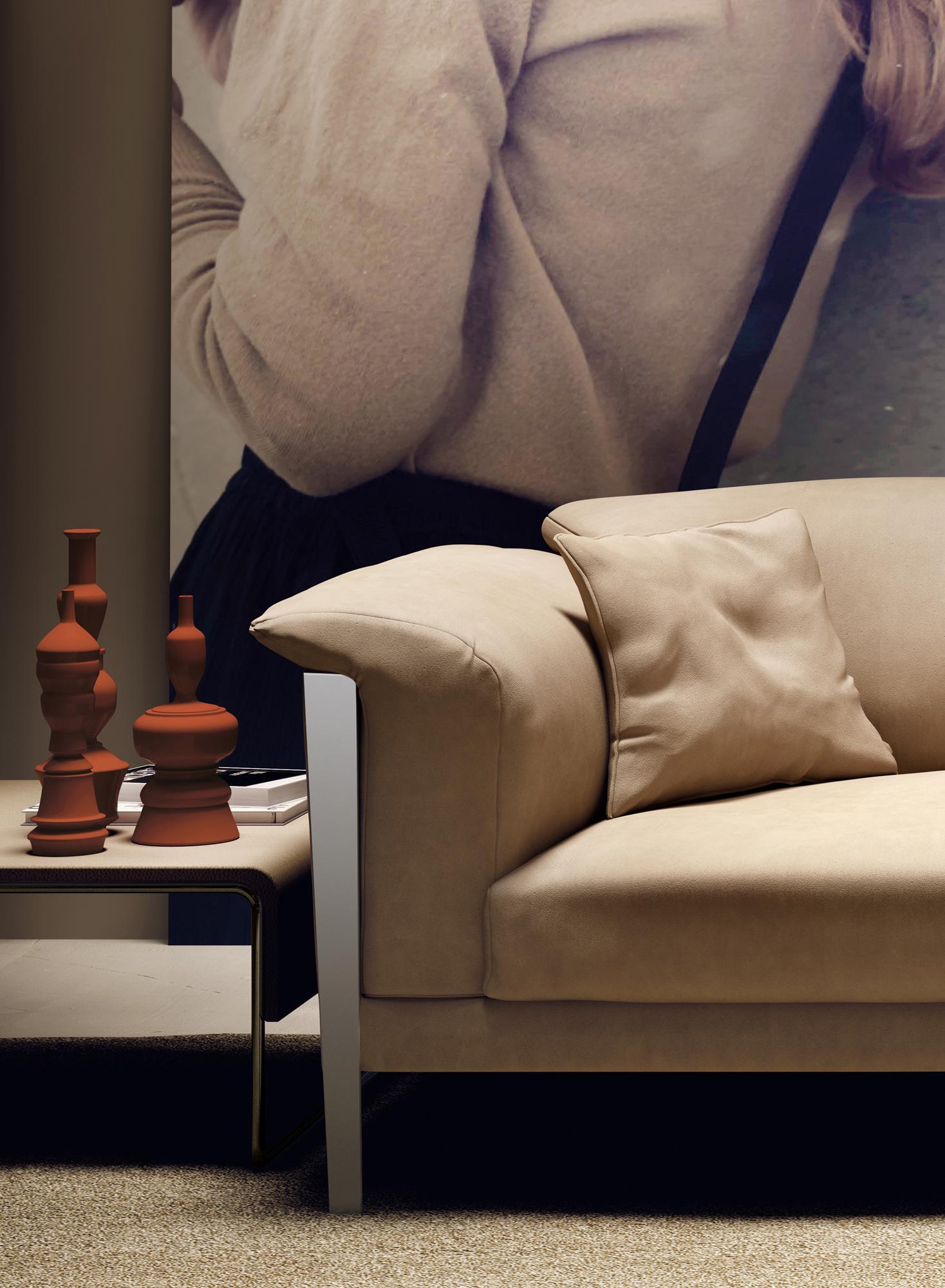 Cream Color Extra Soft Padded Leather Sofa Set Sacramento  ~ Cream Color Leather Sofa Set