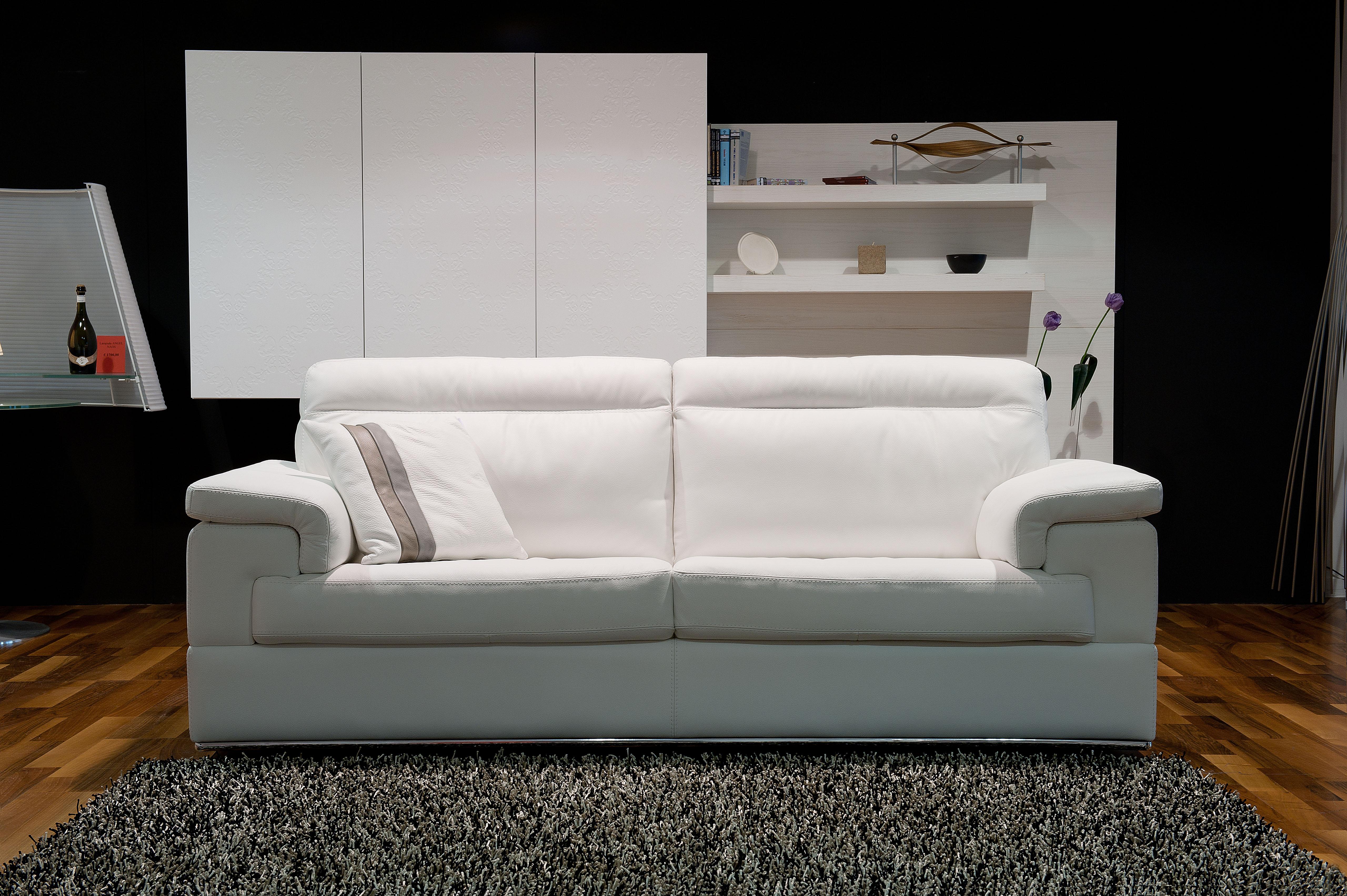 Contemporary Leather Sofa Set on Chrome Frame San Diego California