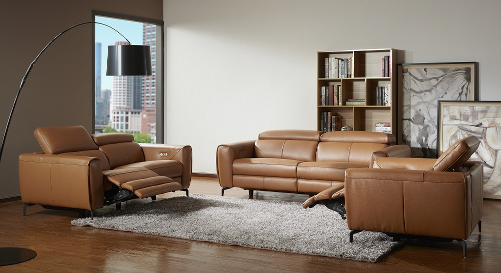 Cordoba 3-Piece Sofa Set in Contemporary Leather