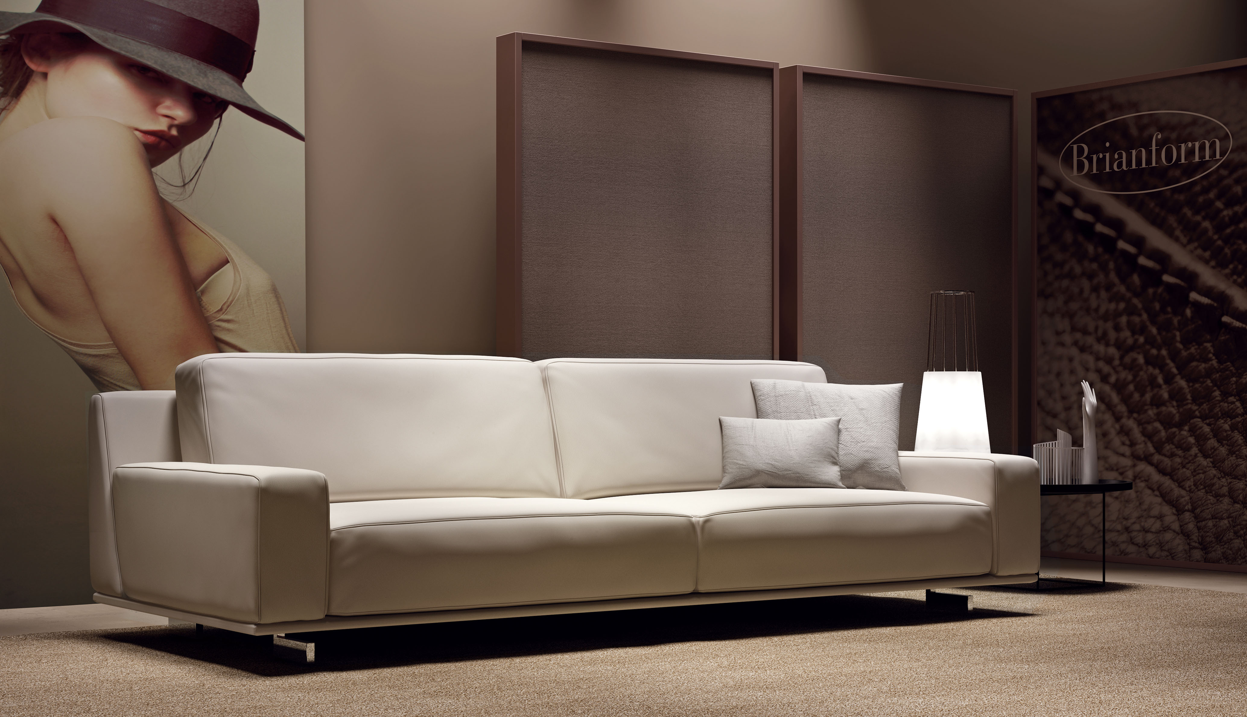 Two Pieced Contemporary Unique Leather Sofa Set