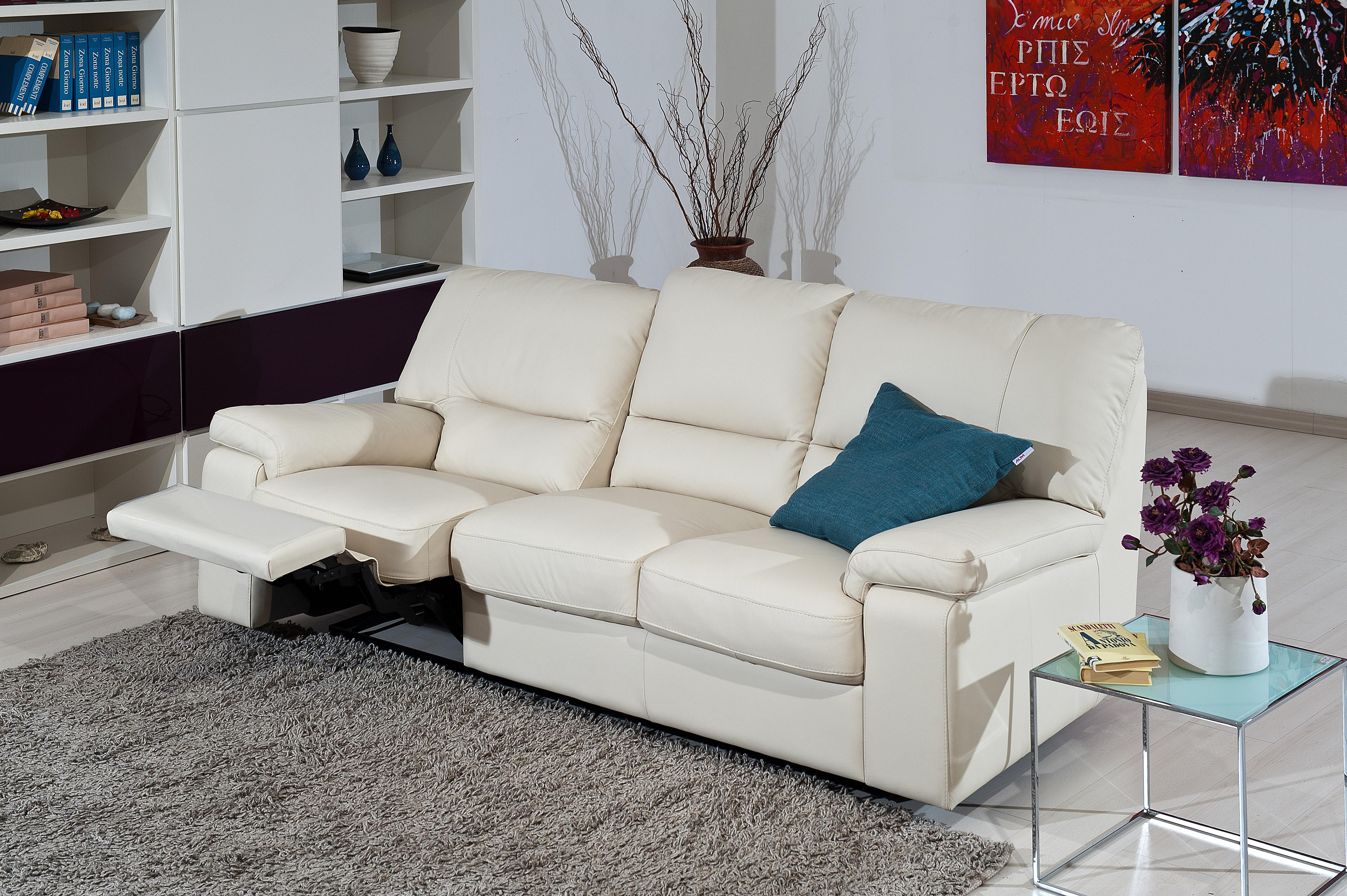 Luxor Italian Leather Sofa Set With Sliding Seats