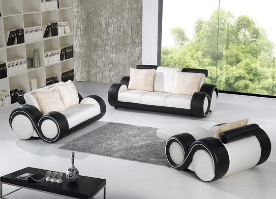 Contemporary black and white leather sofa set el paso for Sectional sofas el paso texas