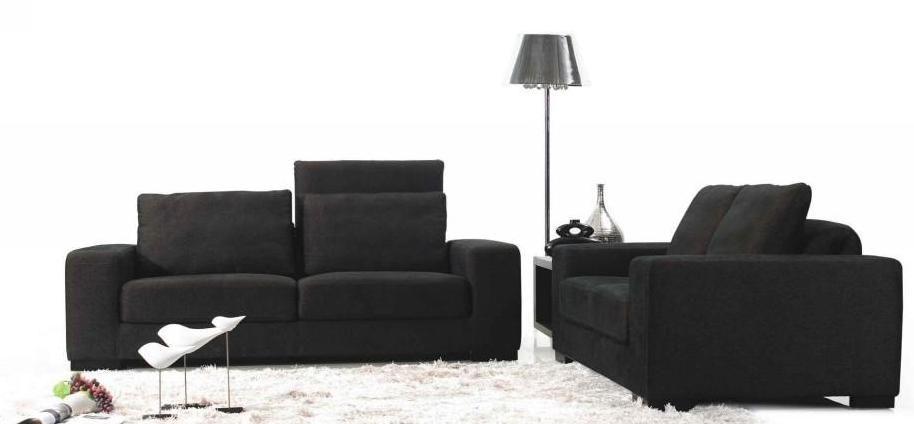 MB0980A Dark Brown Fabric Sofa Set