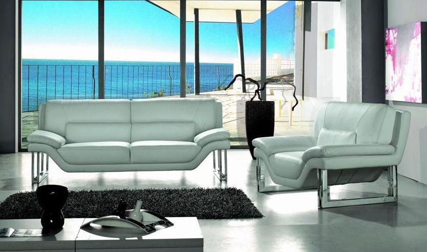 New York Contemporary Leather Living Room Set Las Vegas Nevada