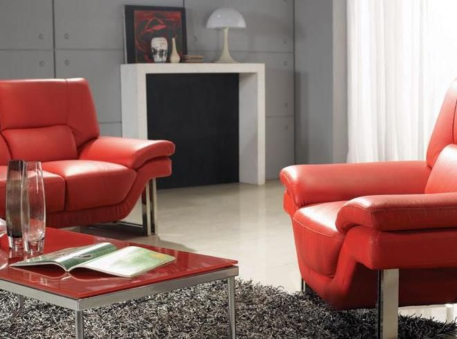 New York Contemporary Leather Living Room Set Las Vegas