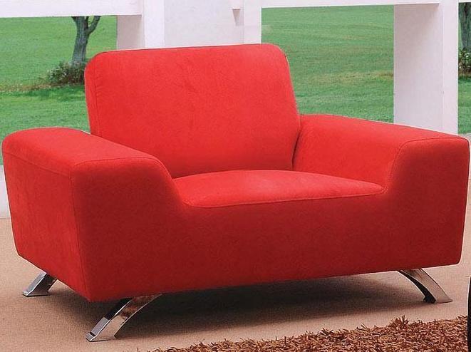 Sunset Contemporary Fabric Red Sofa Set Wichita Kansas Vsunset
