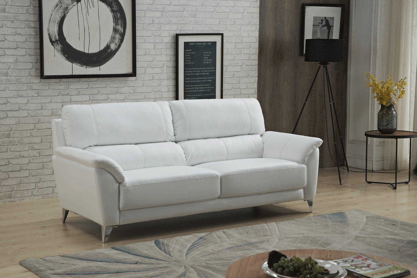 Unique Design White Leather Sofa Set Albuquerque New