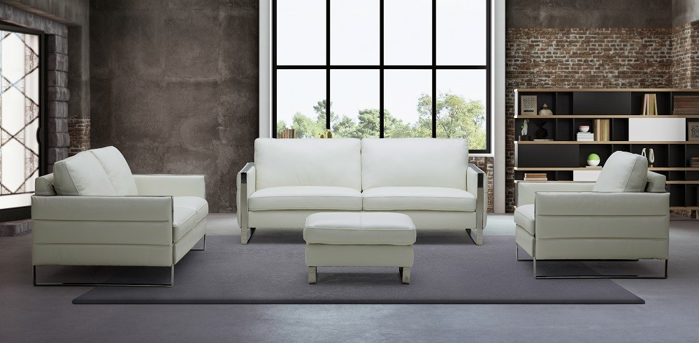 Tonga Contemporary Italian Full Leather Sofa Set