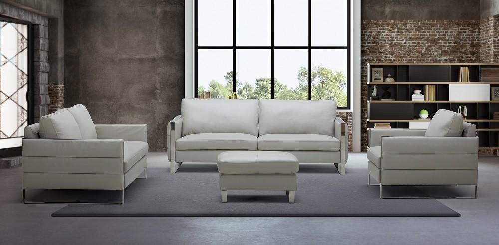 Tonga Contemporary Italian Full Leather Sofa Set