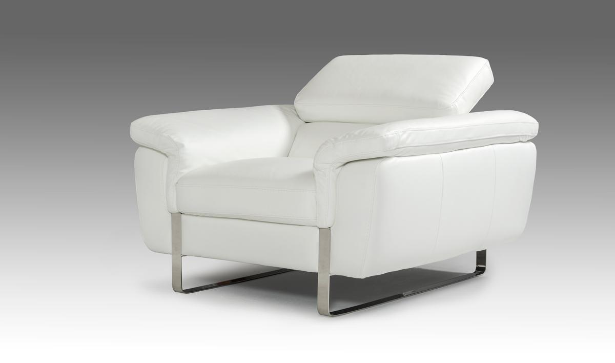 Italian Made White Leather Sofa Set with Adjustable Headrests San Jose California V HIGHLINE