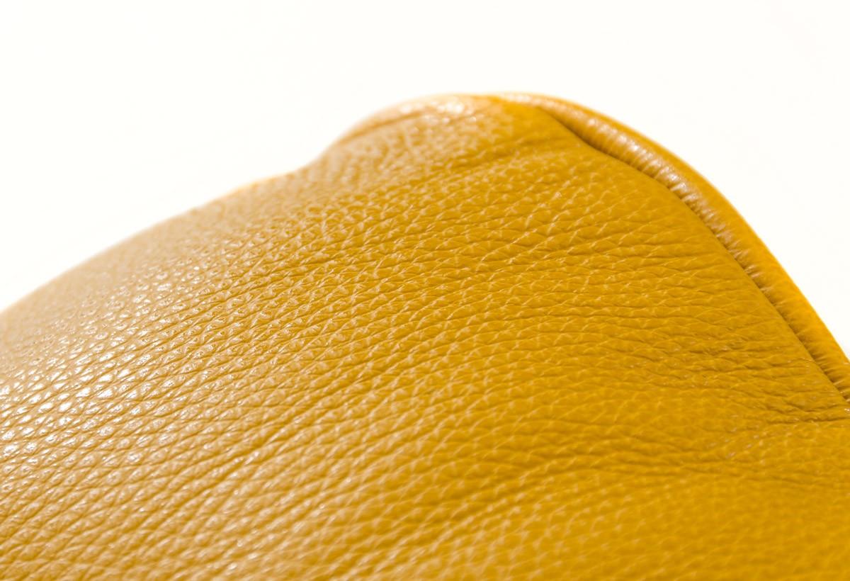 Bright Yellow Italian Genuine Leather Sofa Set Detroit Michigan  ~ Colored Leather Sofa Sets