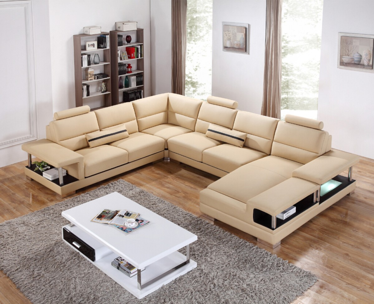 Unique Leather Sectional With Chaise Madison Wisconsin Vig Furniture T717
