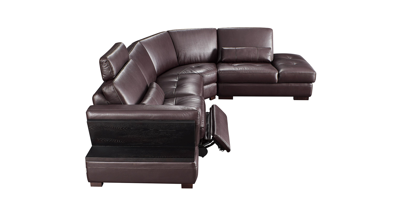 Exquisite Leather Upholstery Corner L Shape Sofa Winston