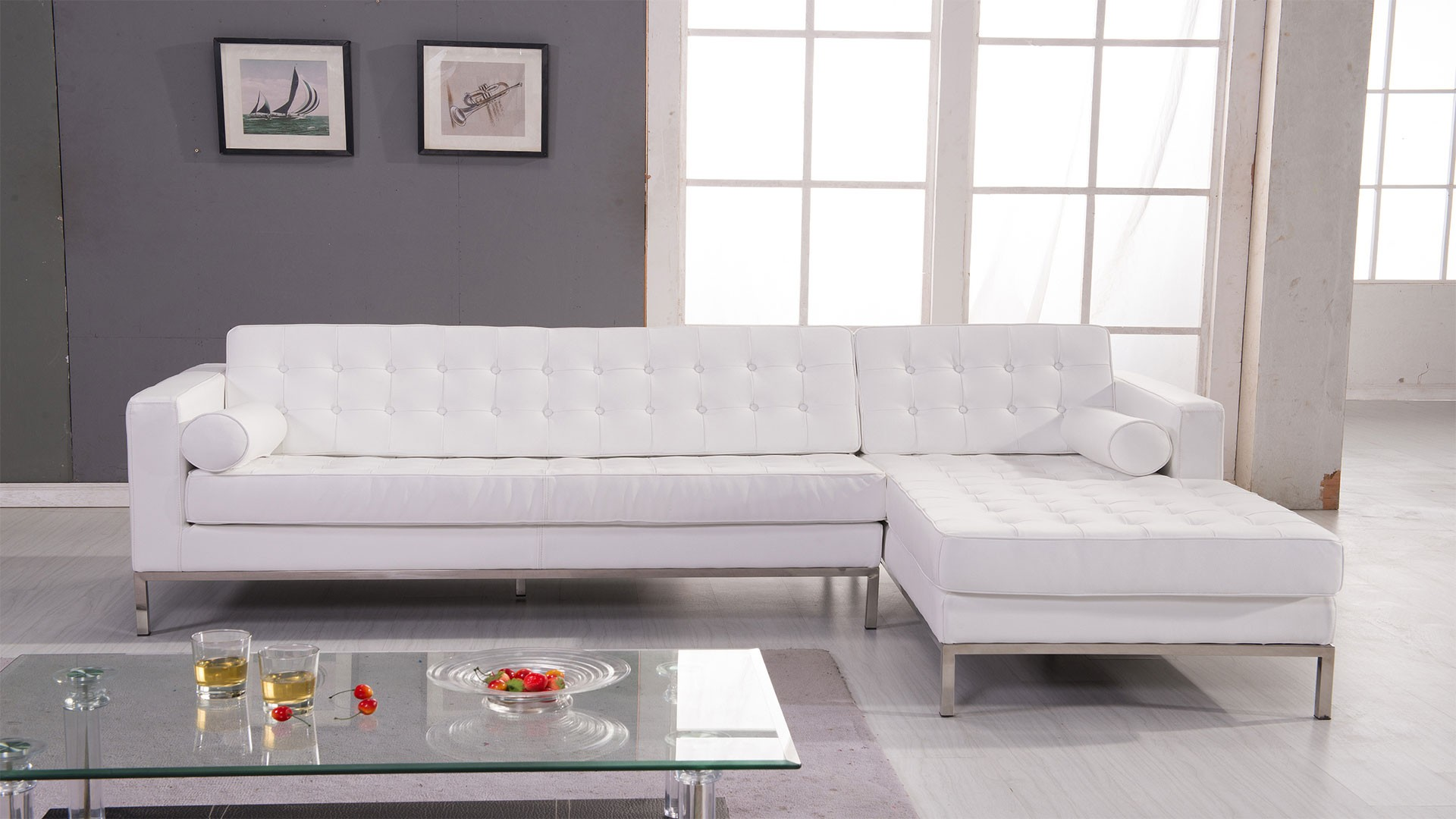 High End Designer All Leather Sectional Memphis Tennessee