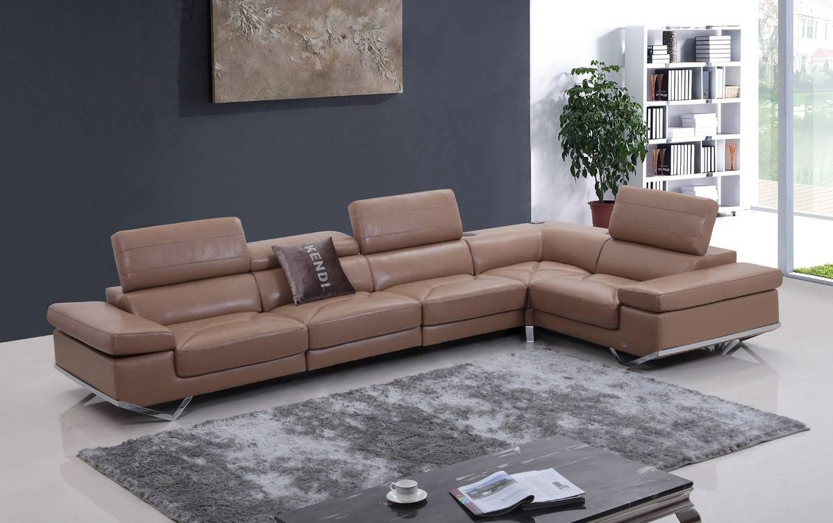 Genuine and Italian Leather Corner Sectional Sofas : camel colored sectional sofa - Sectionals, Sofas & Couches