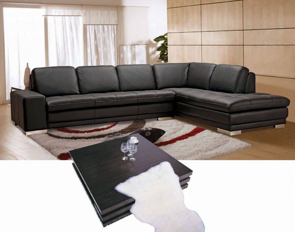 Contemporary Style Full Leather Corner Couch Columbus Ohio