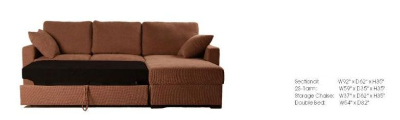 Incognito Fabric Sectional Sofa with Color Options - Click Image to Close