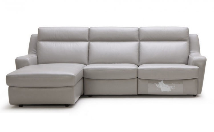 Luxury 1/2 Italian Leather Sectional Sofa San Antonio Texas BHKONV