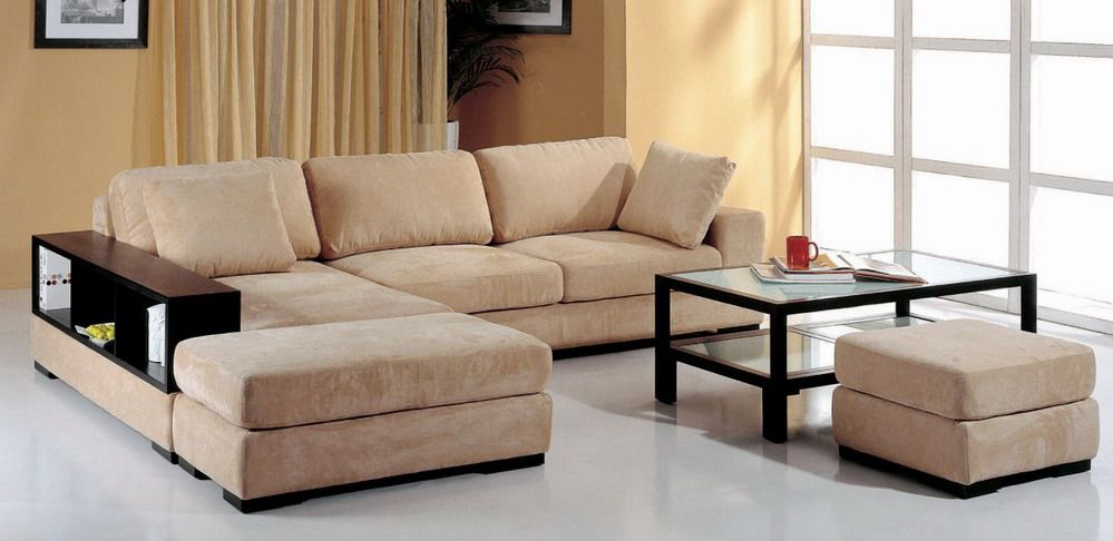High End Microfiber Sectional With Pillows Fresno