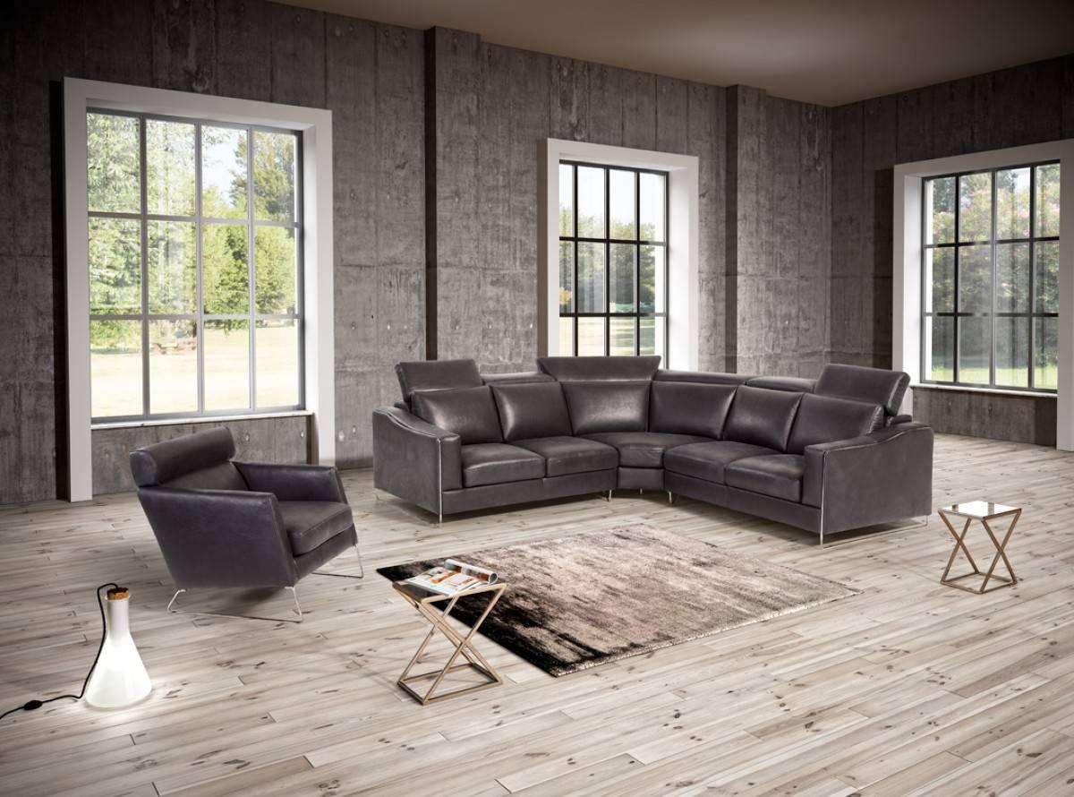Elegant 100% Italian Leather Sectional Dayton Ohio Natuzzi