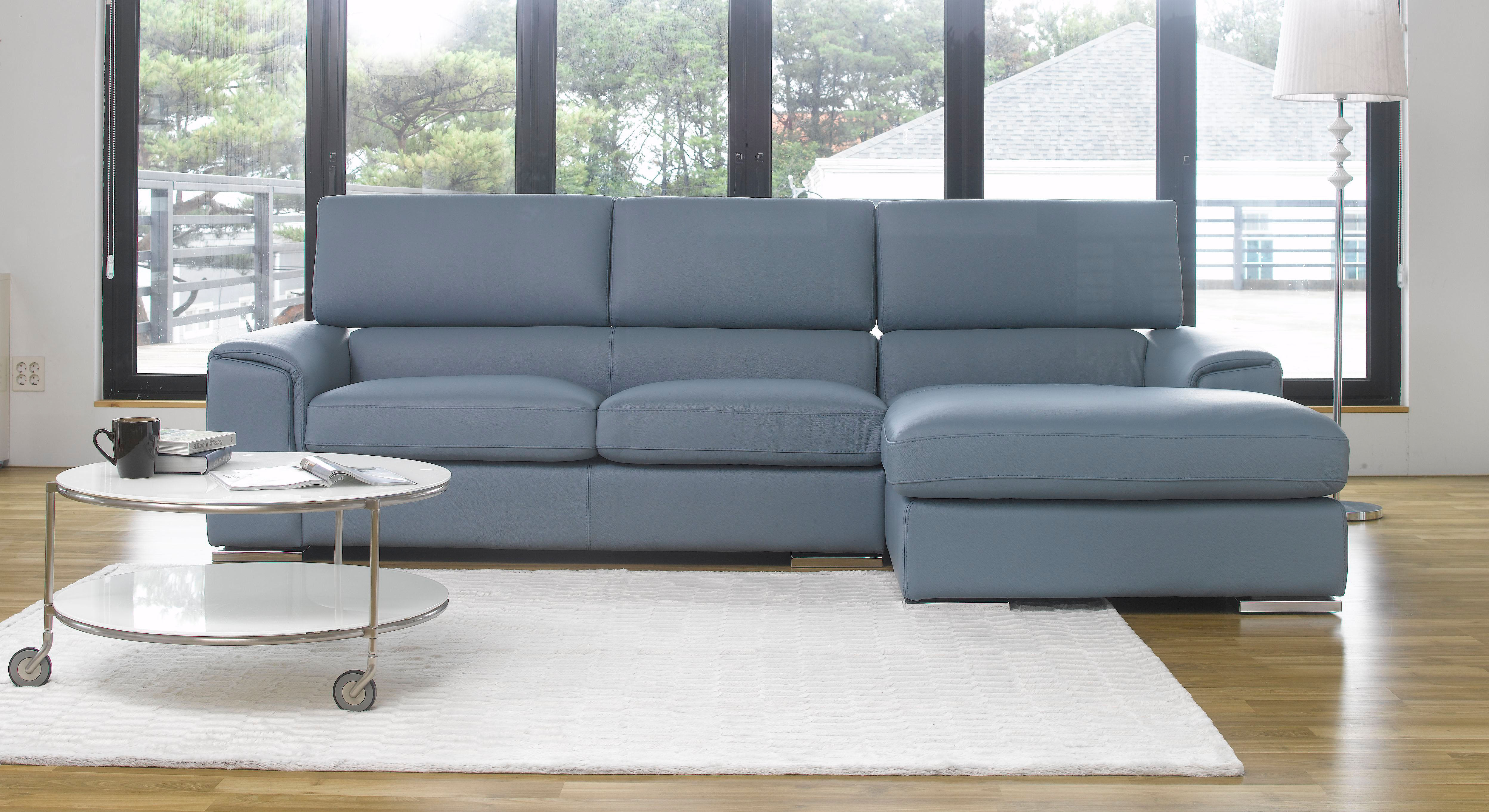 Adjustable Advanced Italian Top Grain Leather Sectional Sofa San