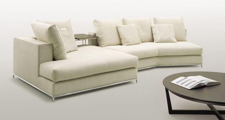 Terrific White Fabric Island Sectional Sofa Ibusinesslaw Wood Chair Design Ideas Ibusinesslaworg