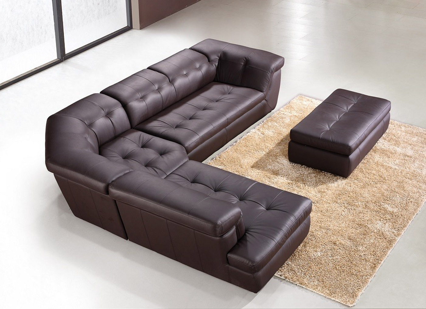 Exclusive Leather Upholstery Corner L-shape Sofa