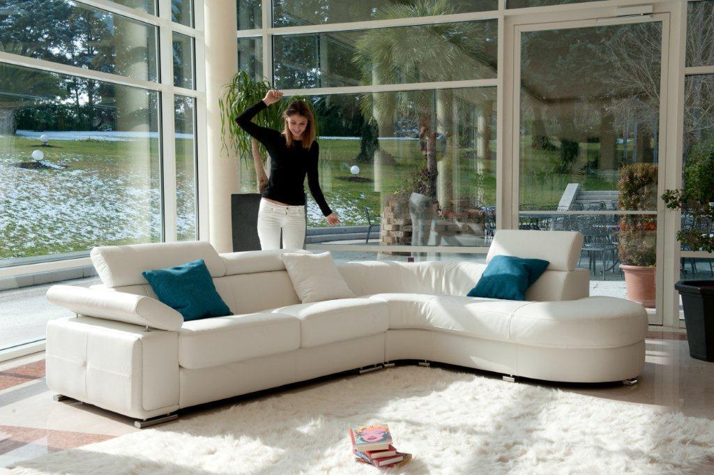Advanced adjustable modern leather l shape sectional colorado springs colorado antonio salotti - Maison sofa altamura ...