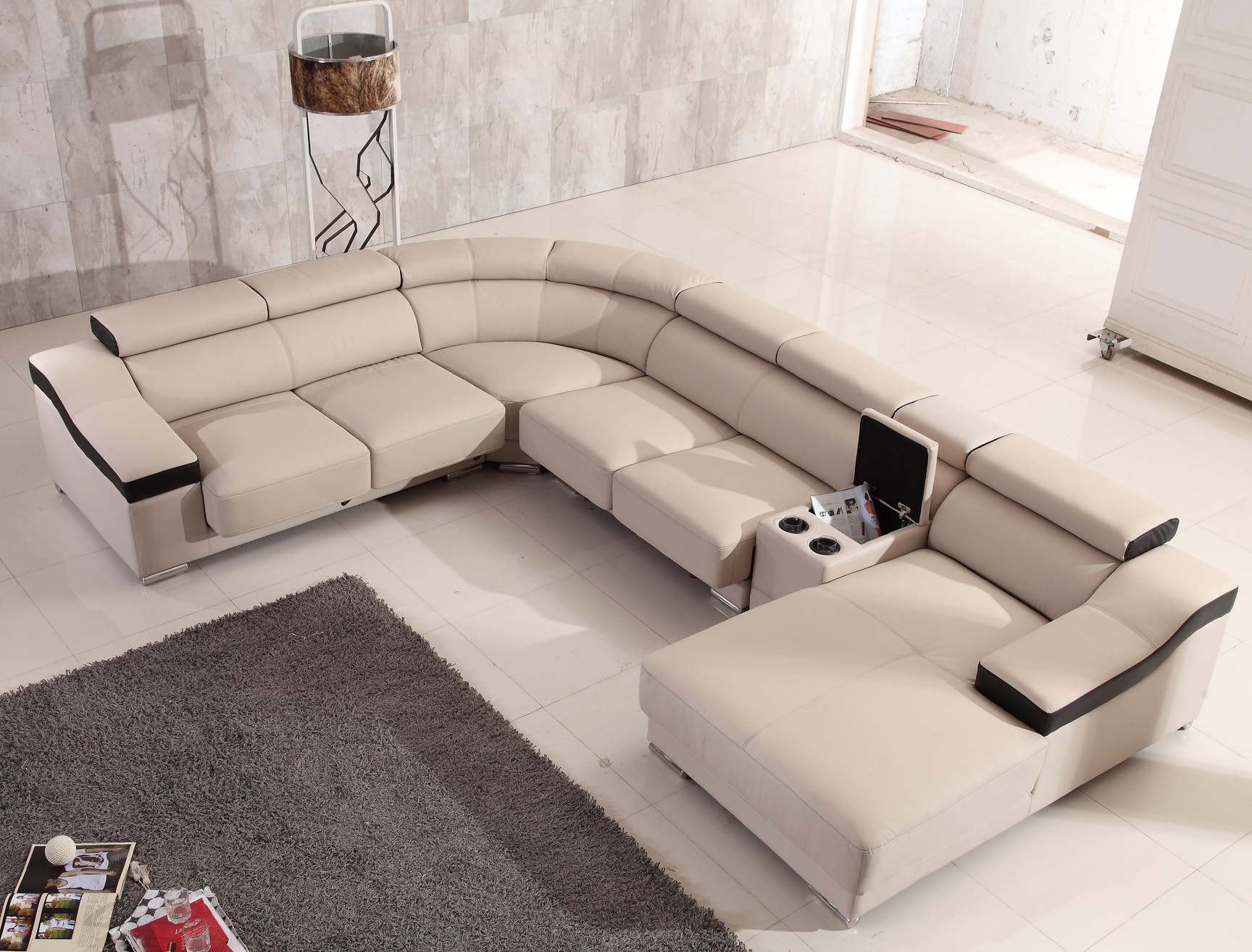 Amazing Contemporary Designer All Leather Sectional Evergreenethics Interior Chair Design Evergreenethicsorg