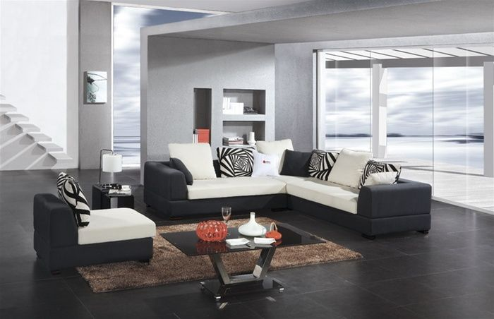 contemporary style microfiber living room furniture corpus