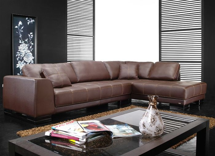 Sofa Chaise Loveseat Corner Curve Leather