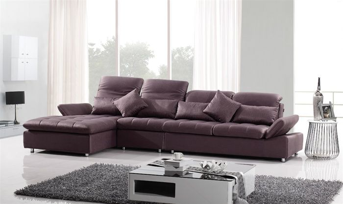 high class microfiber living room furniture with pillows