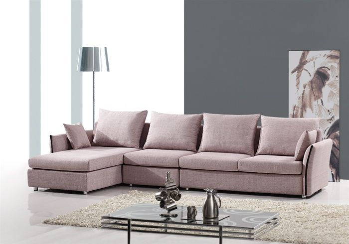 Wondrous Exquisite Tufted Curved Sectional Sofa In Micro Fabric With Pillows Creativecarmelina Interior Chair Design Creativecarmelinacom